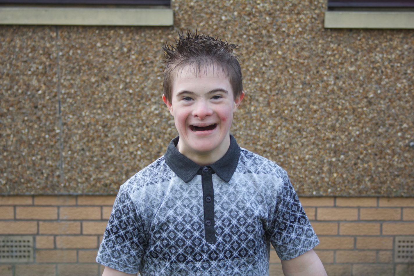 A young man supported by an Aberlour disability service