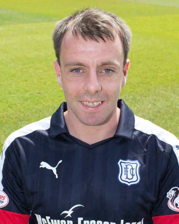 Dundee's Paul McGowan - Dundee FC photo-shoot at Dens Park   - © David Young - www.davidyoungphoto.co.uk - email: davidyoungphoto@gmail.com