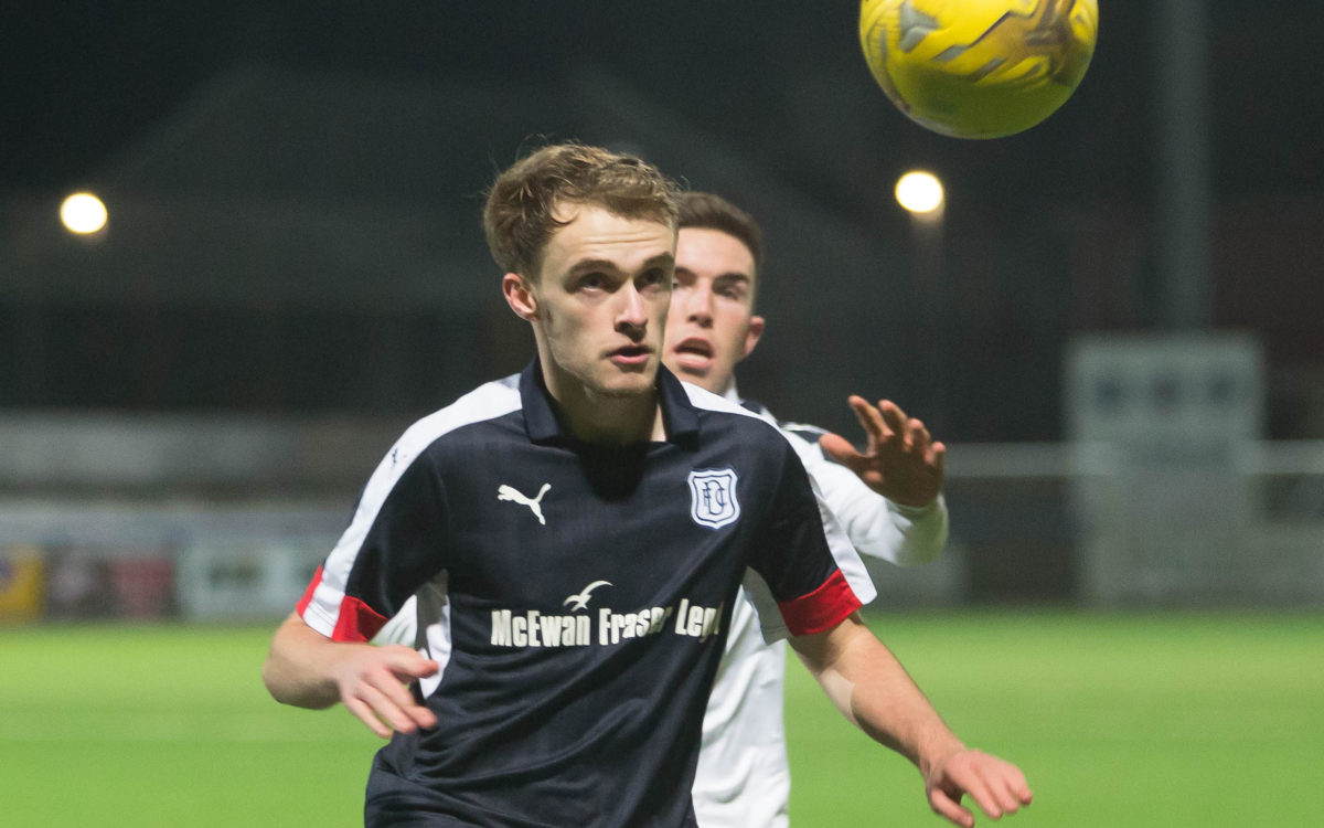 Conor Quigley in action during Dundee v Falkirk in the SPFL Development League at Links Park, Montrose. Photo: David Young   - © David Young - www.davidyoungphoto.co.uk - email: davidyoungphoto@gmail.com