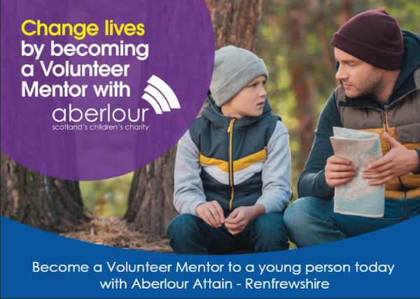 Change lives by becoming a volunteer mentor with aberlour