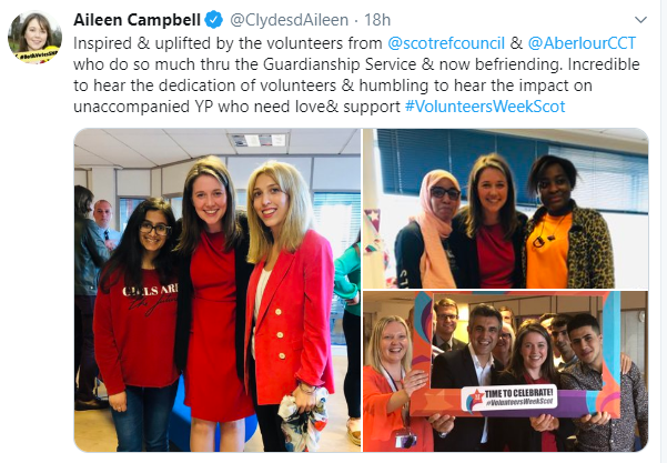 Tweet from Aileen Campbell