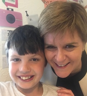 Nicola Sturgeon, Scottish First Minister, meets young people living in Aberlour Sycamore house