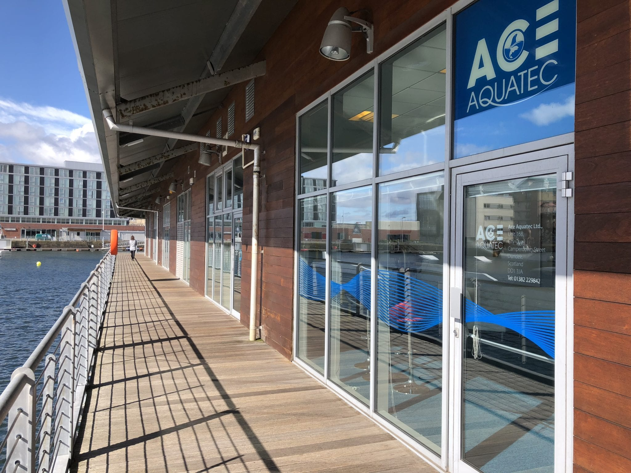 Ace moves to new office at Dundee's City Quay
