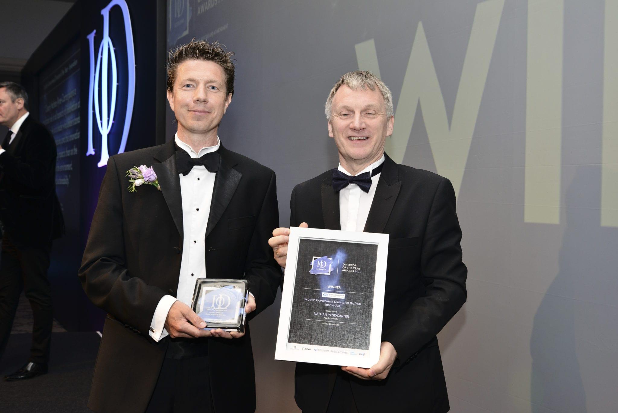 Managing Director Nathan Pyne-Carter wins Scotland Director of the Year award