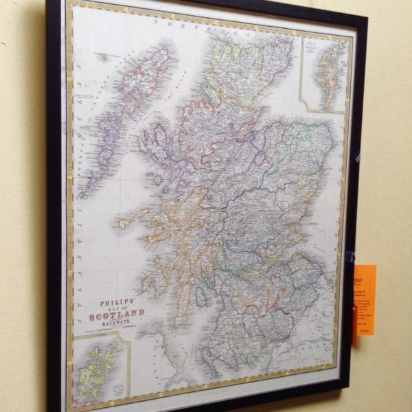 Philip's Map of Scotland and its Railways