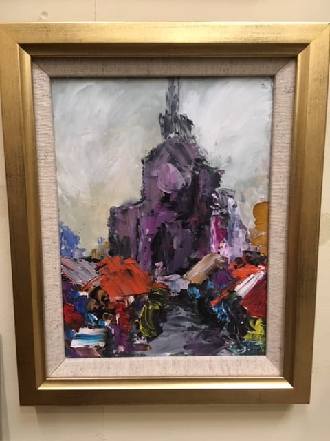Andre Copin Signed Oil on Board