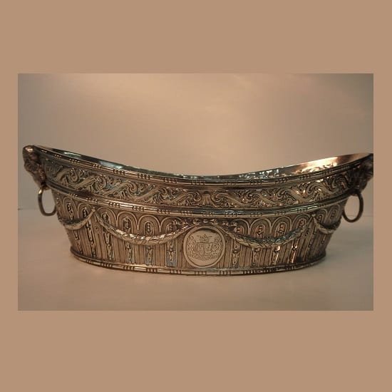 German Silver Dish with Ram's Horn Handles – 1895