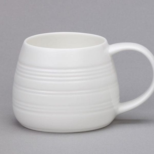 White Bone China Tulip Mugs