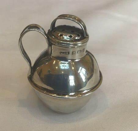 Hallmarked Silver Milk Churn Pepper – Birmingham 1905