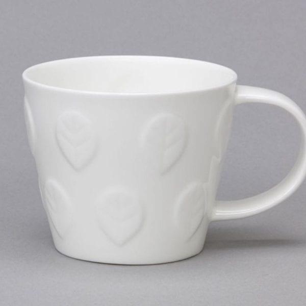 White Bone China Tubby Mugs