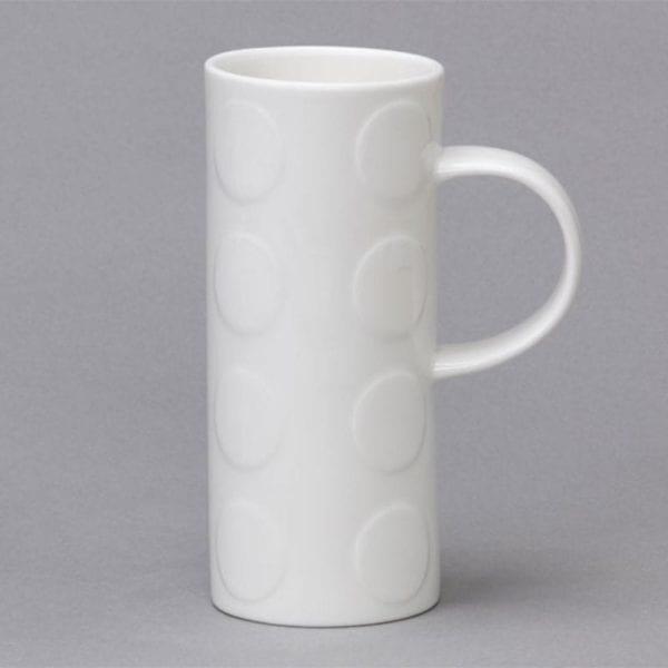 White Bone China Skinny Mugs