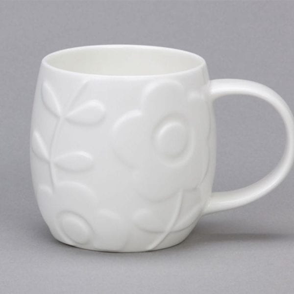 White Bone China Plum Mugs