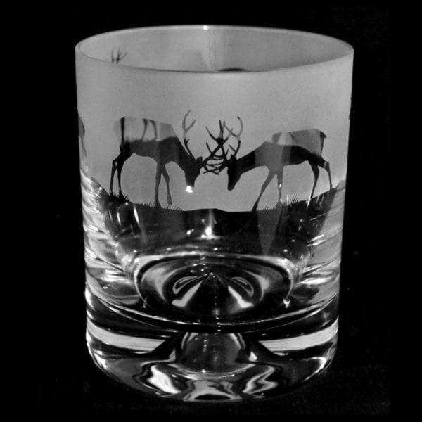 Glass Whisky Tumbler – Stag Design