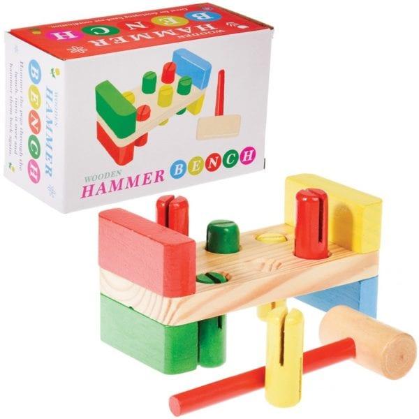 Children's Classic Wooden Activity Toy – Hammer Deck