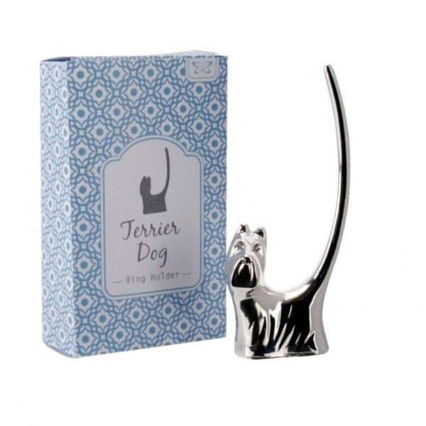 Terrier Dog Novelty Ring Holder