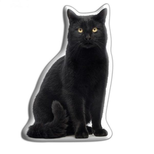 Adorable Pet Cushion – Black Cat