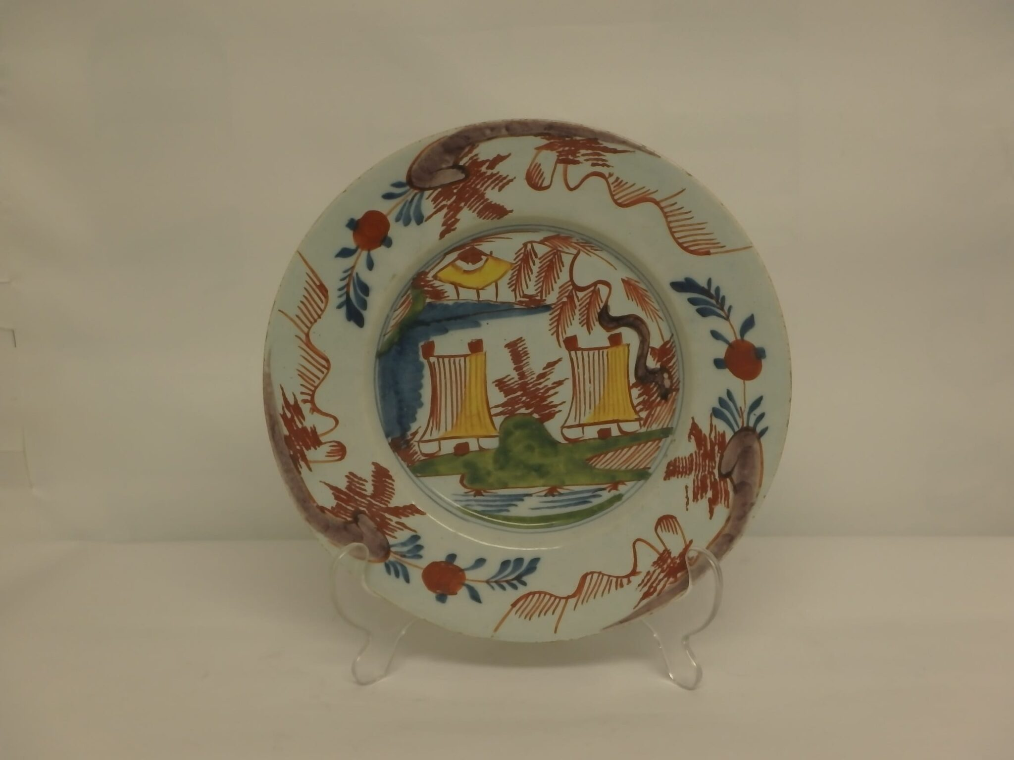 Early Delft Polychrome Plate – c1785