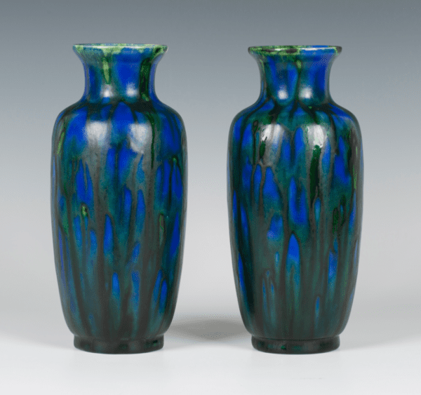 Pair of Minton Hollins & Co Astra Ware Vases