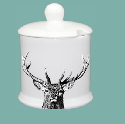 Condiment Jar with Candle – Majestic Stag