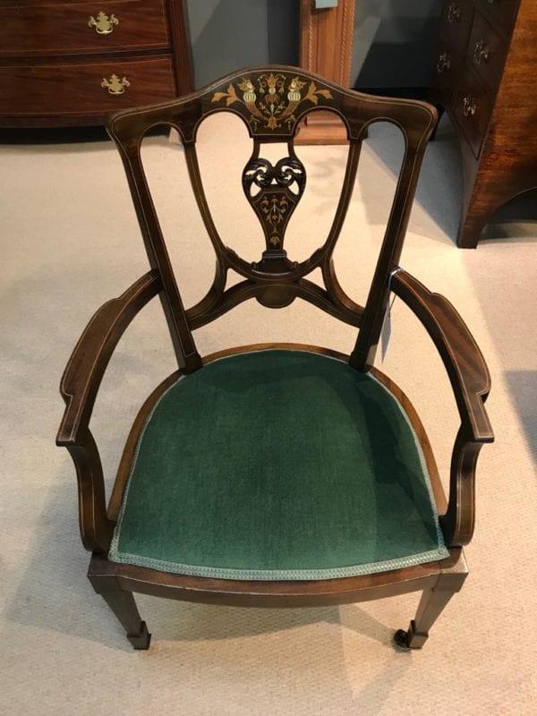 19th Century Inlaid Mahogany Parlour Chair