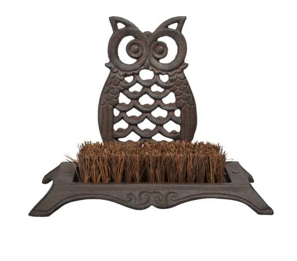 Cast Iron Owl Bootbrush