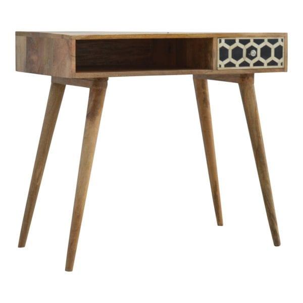 Solid Wood Bone Inlay Writing Desk