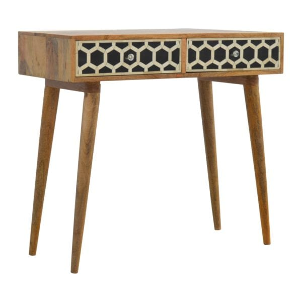 Solid Wood Bone Inlay Console Table