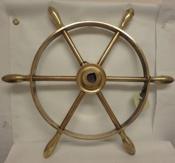 Solid Brass Ship's Wheel – Clyde Built