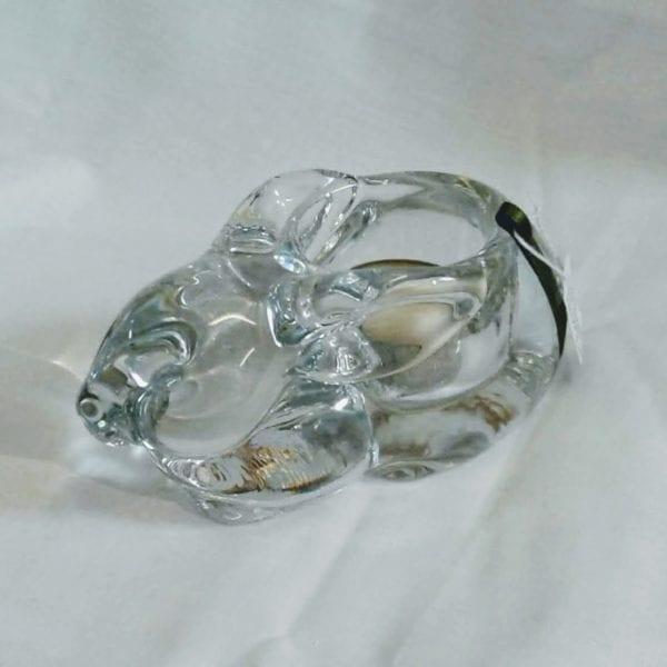 Glass rabbit tealight