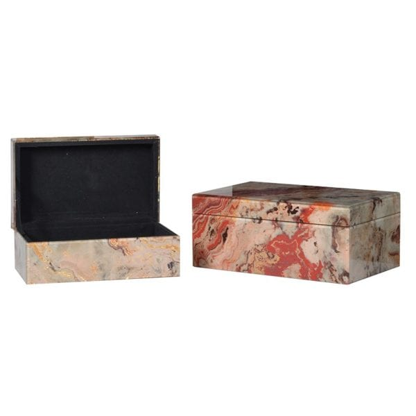 Marble Effect Storage Boxes