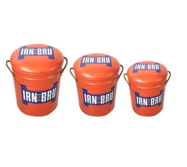 Retro Metal Stools – Irn Bru Design