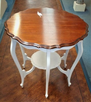 Painted Mahogany Topped Table