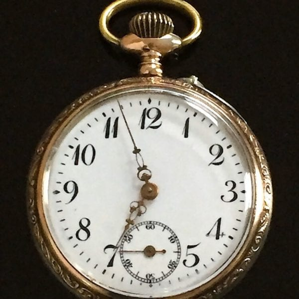 Silver and Rose Gold Pocketwatch