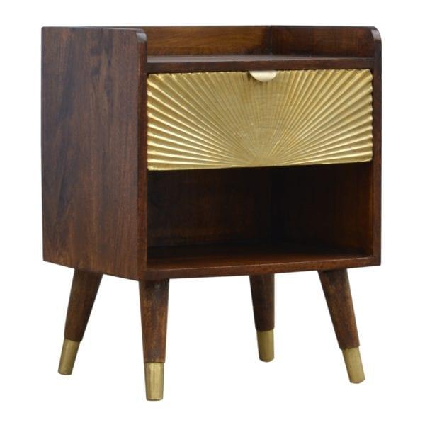 Solid Wood Sunrise Bedside Table