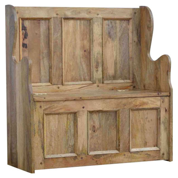 Solid Wood Large Monks Bench
