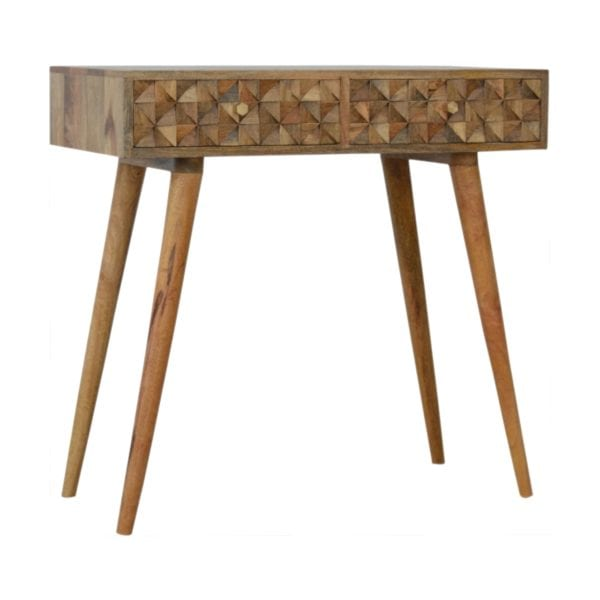 Retro Style Solid Wood Console Table