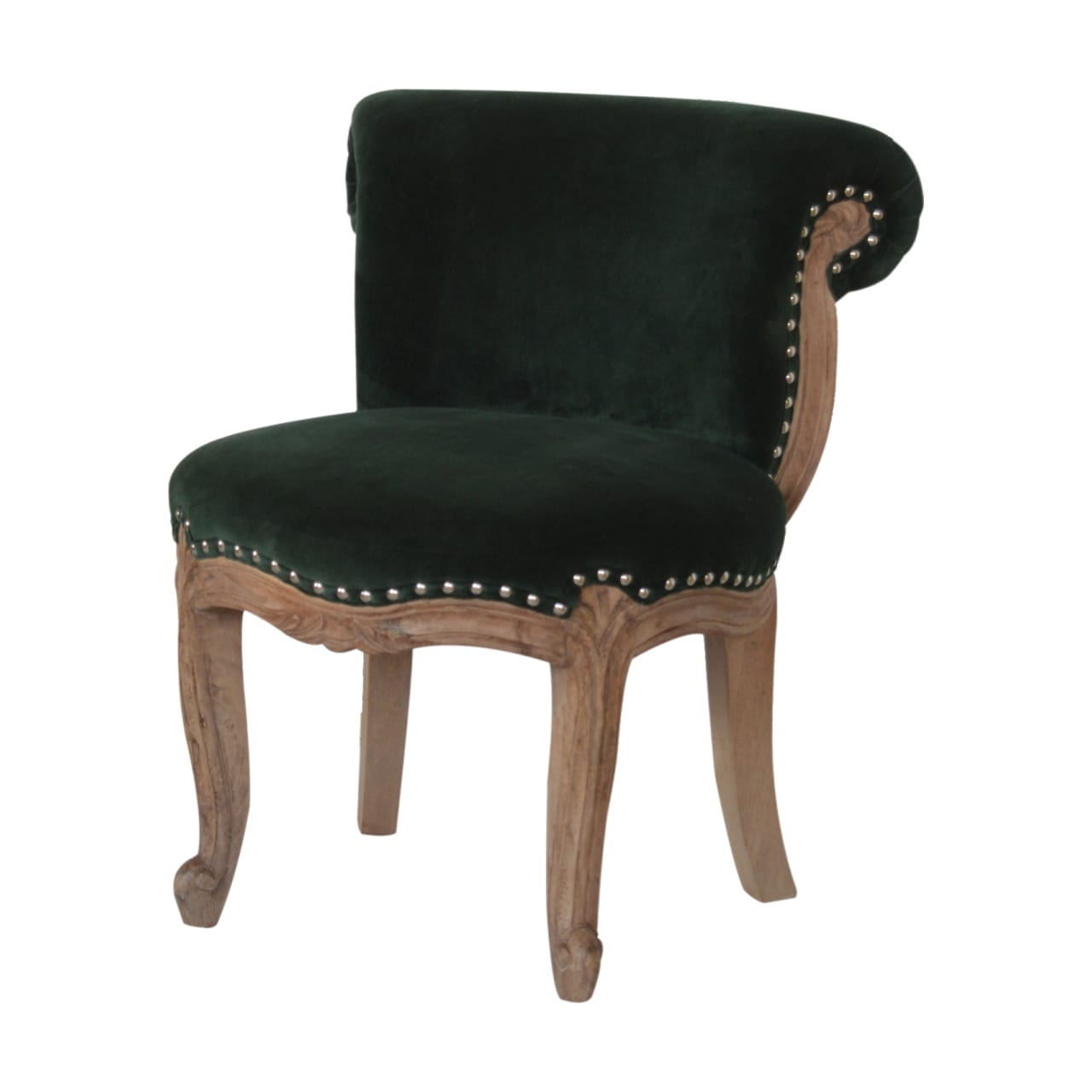Emerald Green Velvet Studded Chair Scottish Antique Arts Centre