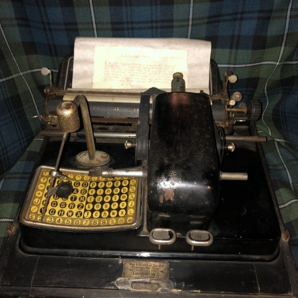Rare Early Mignon Typewriter