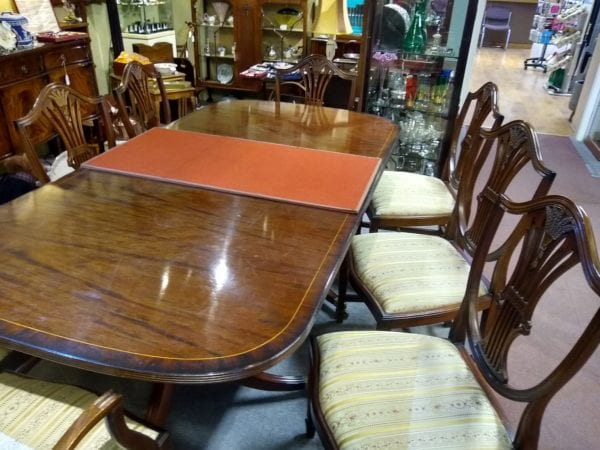 Mahogany Hepplewhite Style Dining Table