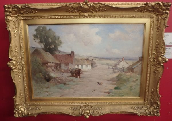 A Gowrie Smithy – Oil on Canvas by R. Russell Macnee