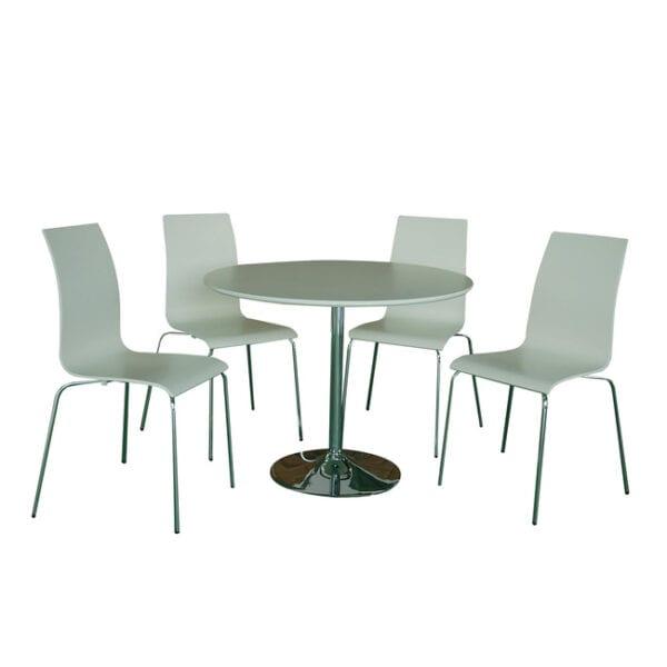 Kensington 5 Piece Dining Set – White