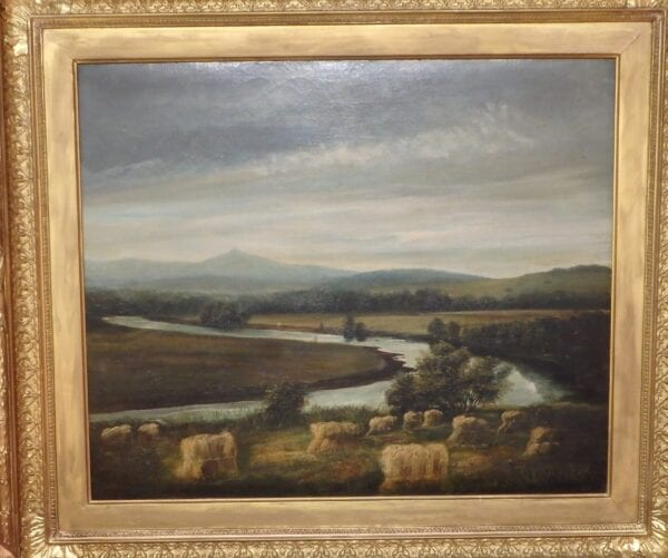 Late Victorian oil, Schiehallion from the Tay