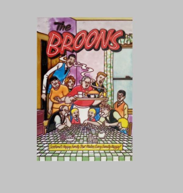 "Ceramic Art Tile – The Broons – ""Yer Tea's Oot"""