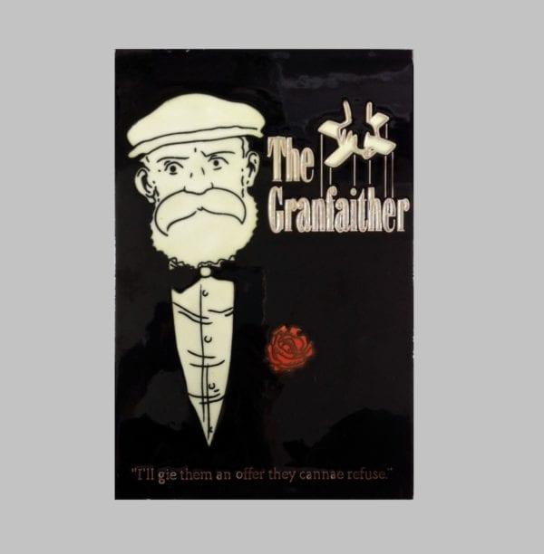 "Ceramic Art Tile – Granpaw Broon ""The Granfaither"""
