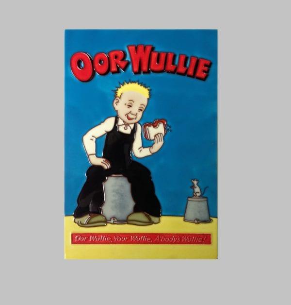 "Ceramic Art Tile – ""Oor Wullie and Jeemy"""