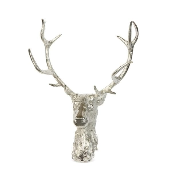 Wall Mounted Nickel Stag Head
