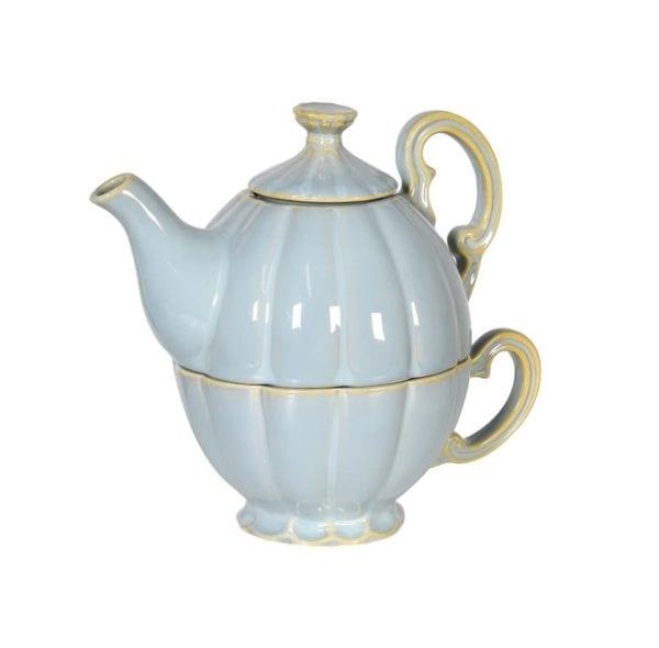 Ceramic 2 Piece Teapot and Cup Set