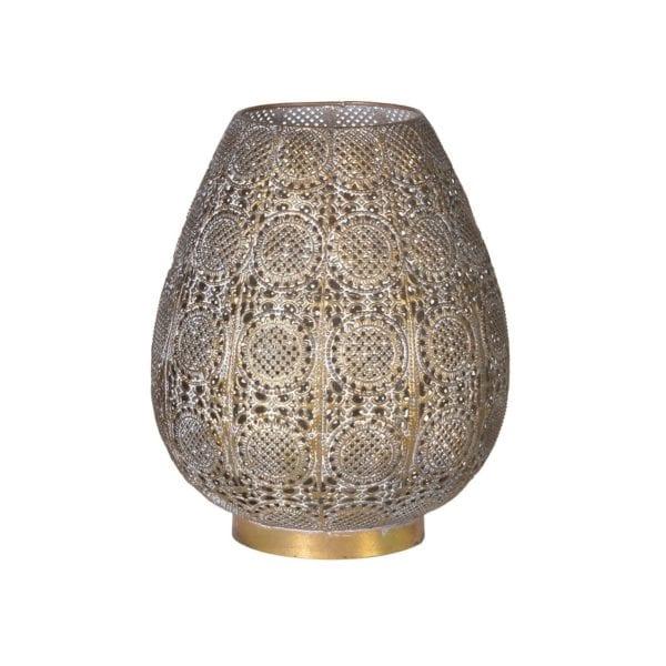 Ornate Asian Style Iron Hurricane Lamp