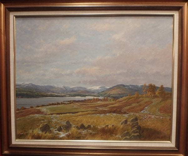 Loch Tay – Signed Oil on Canvas – Donald M Shearer