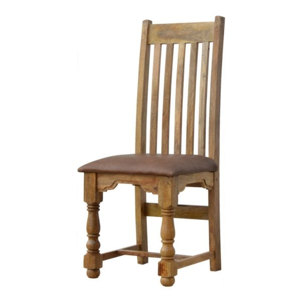 Country Style Solid Wood Dining Chairs – Set Of 2